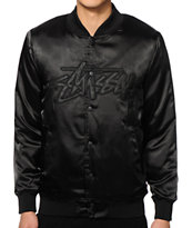 Stussy Stock Black Satin Jacket