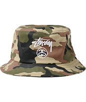 Stussy Stock Lock Camo Bucket Hat