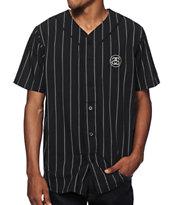 Stussy Stripe Poplin Baseball Jersey