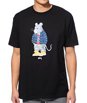 Stussy Thug Rat Black Tee Shirt