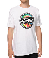 Stussy Tie Dye Dot White T-Shirt