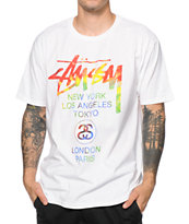 Stussy Tie Dye World Tour Tee Shirt