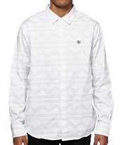Stussy Tom Tom Print Long Sleeve Button Up Shirt