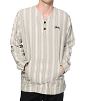 Stussy V Poncho Long Sleeve Henley Shirt