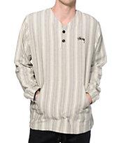 Stussy V Poncho Long Sleeve Henley Shirt