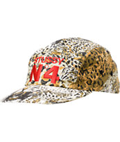 Stussy Wild Cheetah Camper 5 Panel Hat