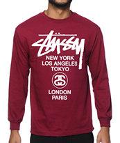 Stussy Wolrd Tour Long Sleeve T-Shirt