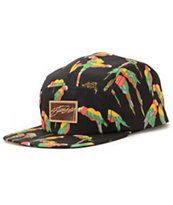 Stussy Women's Macaw Black 5 Panel Hat