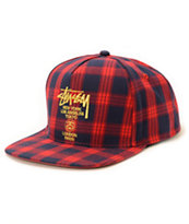 Stussy World Jack Plaid Baseball Hat