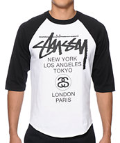 Stussy World Tour Baseball T-Shirt