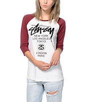 Stussy World Tour Baseball Tee