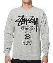 Stussy World Tour Crew Neck Sweatshirt