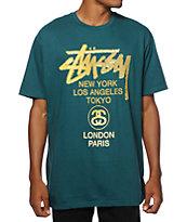 Stussy World Tour Gold T-Shirt