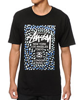 Stussy World Tour Paint Tee Shirt