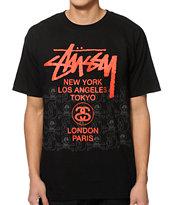 Stussy World Tour Skulls T-Shirt