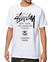 Stussy World Tour White Tee Shirt