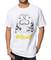 Stussy X Ferry Gouw Mad Flava DJ White Tee Shirt