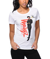 Stussy x Yo! MTV Raps Queen Latifah White Tee Shirt