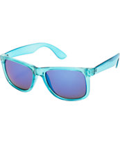 Sunscape Bravo Clear Blue & Purple Mirror Sunglasses