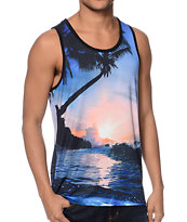 Super Massive Beach Sunset Sublimated Tank Top