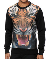 Super Massive Tiger Sublimated Crew Neck Sweatshirt