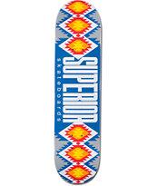 "Superior Blue Mexi Blanket 7.75"" Skateboard Deck"