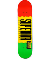 Superior Rasta Logo Wrap 7.75 Skateboard Deck