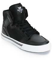 Supra Boys Vaider Leather Skate Shoes