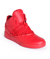 Supra Estaban Red, Red & Red Shoes