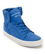 Supra Kids Skytop Blue & White Skate Shoe
