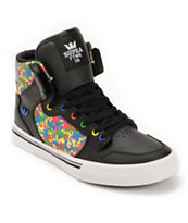 Supra Kids Vaider Black, Camo, & Royal Skate Shoe