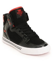 Supra Kids Vaider Black & Red Shoe