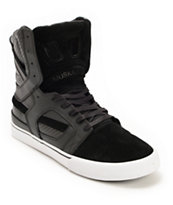 Supra Skytop 2 Black & White Leather Skate Shoe