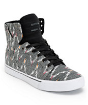 Supra Skytop Desert, Black, & White Canvas Skate Shoes