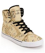 Supra Skytop Desert Camo Tuf Skate Shoes