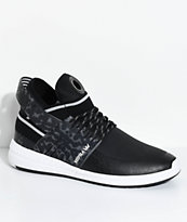 Supra Skytop V Black, Grey & White Skate Shoes