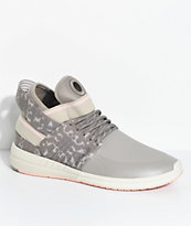 Supra Skytop V Khaki, Grey & Pink Skate Shoes