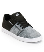 Supra TK Stacks Ballistic Static & Black Skate Shoe