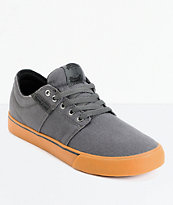 Supra TK Stacks Vulc Grey & Gum Canvas Skate Shoes