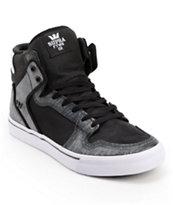 Supra Vaider Ballistic Black & Static Skate Shoes