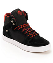 Supra Vaider Black & Red Buffalo Plaid Skate Shoe