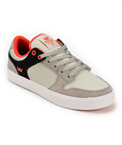 Supra Vaider LC Light Grey, Black & Red Skate Shoe