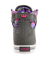 Supra Womens Skytop Grey Nubuck Shoe