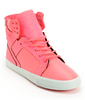 Supra Womens Skytop Pink Nylon High Top Shoe