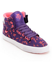 Supra Womens Vaider Purple & Pink High Top Shoe