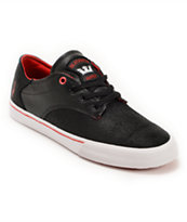 Supra X Deathwish Pistol Black, Athletic Red and White Skate Shoe