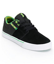 Supra x Shake Junt Stacks Vulc 2 Black Suede Shoe