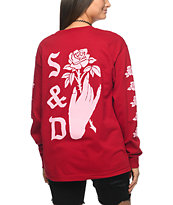 Swallows & Daggers Hand Picked Roses Red Long Sleeve T-Shirt