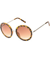 Sweet Jane Round Tortoise Sunglasses