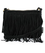 T-Shirt & Jeans Black Fringe Mini Crossbody Purse